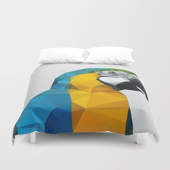 Geo - Parrot Duvet Cover