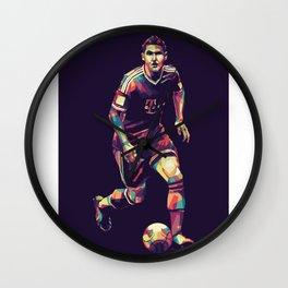 Bastian Schweinsteiger WPAP Pop Art Wall Clock