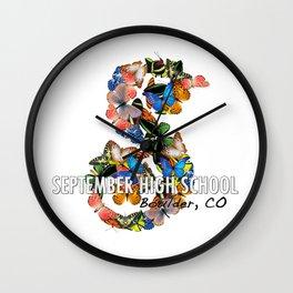 September School Butterflies Wall Clock