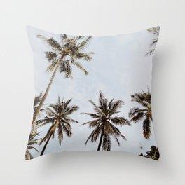 palm trees xiv / chiang mai, thailand Throw Pillow