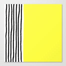 Stripes & Rays Of Sunshine Yellow Canvas Print