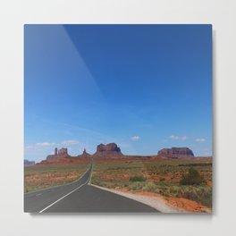 Traveling On Highway 163 Metal Print
