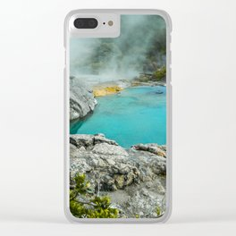 Rotorua Hot Springs Clear iPhone Case