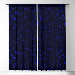 Gray drops and petals on a white background in nacre. Blackout Curtain