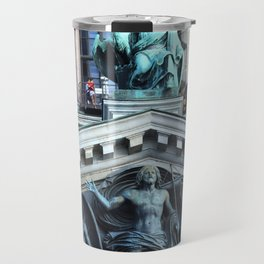 Apic Bronze works of art of the facade of St. Isaac's Cathedral. Travel Mug