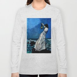 She lived almost alone in a sea of storms. Long Sleeve T-shirt