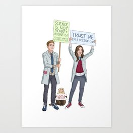 Fitzsimmons - Science March Art Print