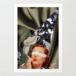Blind Lily Art Print