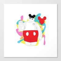baymax Canvas Prints featuring Baymax by The Space Wanderer