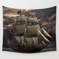 sailing Wall Tapestries featuring Sailing by Kristiana Art Prints