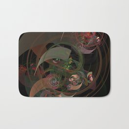 Abstract Fractal Spiral Bath Mat