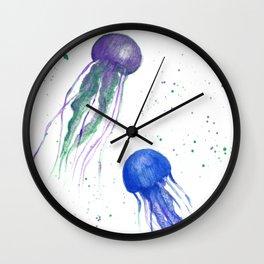 Vivid Jellyfish Wall Clock