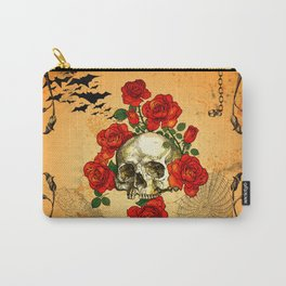 Skull with roses Carry-All Pouch