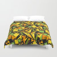 geometry Duvet Covers featuring geometry by lisenok