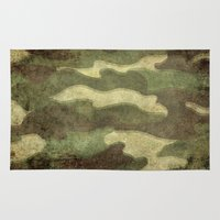 camo Area & Throw Rugs featuring Dirty Camo by Bruce Stanfield