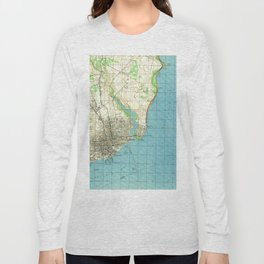 Vintage Map of Pensacola Florida (1944) Long Sleeve T-shirt
