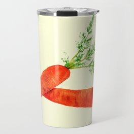 orange carrot watercolor painting Travel Mug