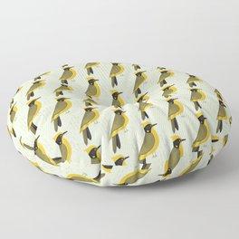 Helmeted Honeyeater   Pattern Floor Pillow