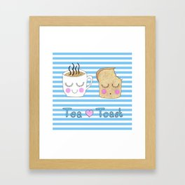 Tea Loves Toast Framed Art Print