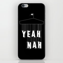 Yeah Nah Wireframe Inverted  iPhone Skin