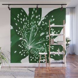 Lily Infrared In Green Wall Mural