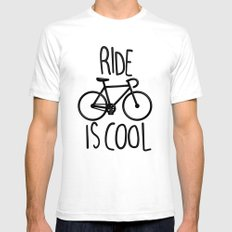 Ride is Cool Mens Fitted Tee White SMALL