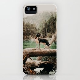 /// wild Max at the Lac Verde /// Valle Etroite iPhone Case