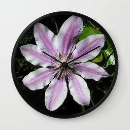 Clematis Nellie Moser Wall Clock