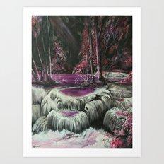 Cascades by Veron Ramsawak Art Print