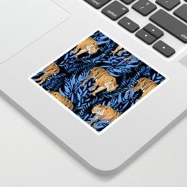 Tiger and leaf pattern Sticker