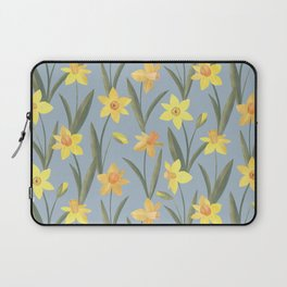 Spring Daffodils Floral Pattern Laptop Sleeve