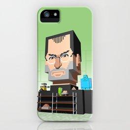 Steve Jobs 3D pixel portrait iPhone Case