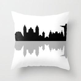 skyline of rio de janeiro Throw Pillow