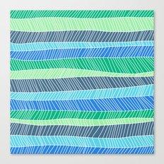 Beach Stripe (Cool) Canvas Print
