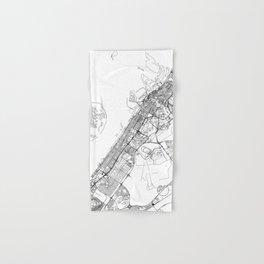 Dubai White Map Hand & Bath Towel