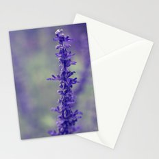 Purple Salvia Flower Stationery Cards