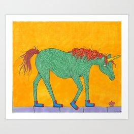 Unicorns love Cupcakes Art Print