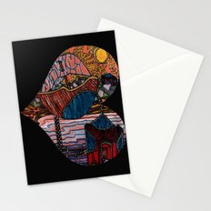 Oriental Houses  Stationery Cards