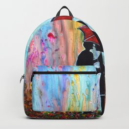 A Rainy Date romantic painting giftart Backpack