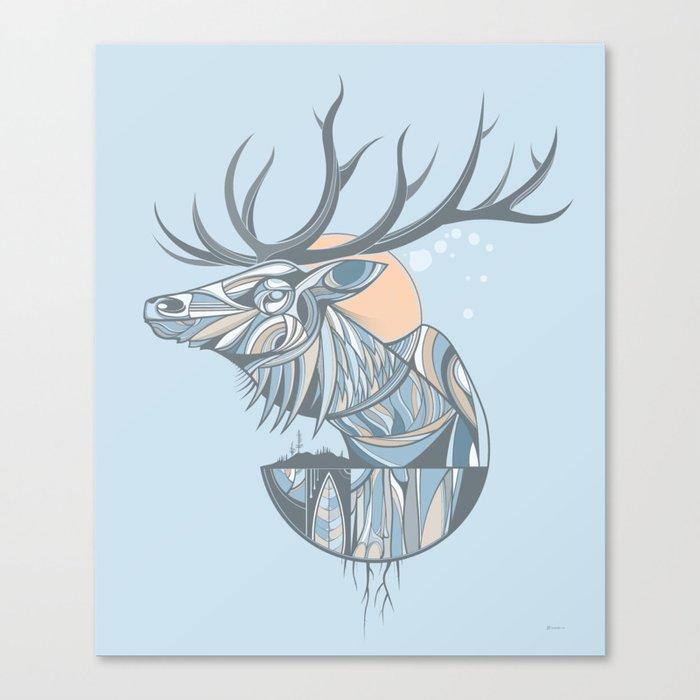 elk root blue Canvas Print