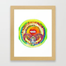 Aries on Fire Framed Art Print