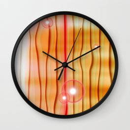 Abstract orange Collage Wall Clock
