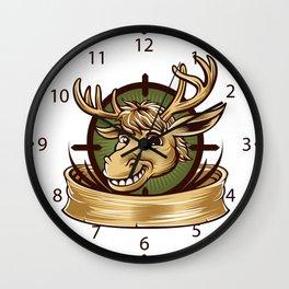 Cartoon Deer mascot  Wall Clock