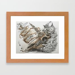 Bukowski's Unicorn Framed Art Print