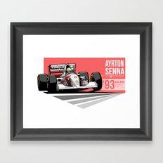 Ayrton Senna - 1993 Adelaide Framed Art Print