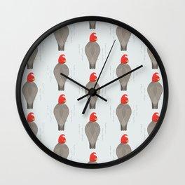 Gang-Gang Cockatoo | Pattern Wall Clock