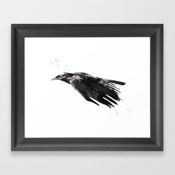 Crow 717 Framed Art Print