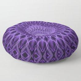 Ornamented mandala in violet tones Floor Pillow