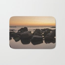 Rocky Ocean Sunrise Bath Mat