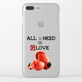 ALL U NEED IS G LOVE Clear iPhone Case